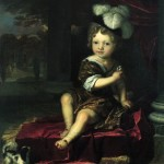 Portrait of a child with a tit - Karel de Moor